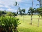View of golf course from back lanai