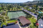 Tennis courts located within the gated community