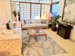 Lots of comfortable living room space for after your Oahu adventures