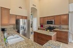 Large kitchen with all the necessary amenities.