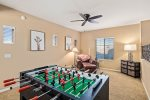 Upstairs loft/game room with an official Foosball Tournament Table.