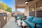 Great seating out on Patio