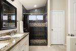 Master Shower & Dual Sinks