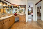 Master bathroom contains everything you need