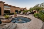 Private backyard oasis with heated pool and spa