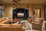 Gather around the entertainment center for movie night or the big game.