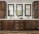 Dual vanities - Shampoo, Conditioner, and Body Wash provided