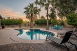 Large - Private yard with heated pool and firepit