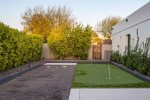 Putting green and Bocce ball court