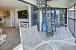 Private Screened In Lanai With Stairs Leading Up To Sundeck