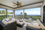 Open living area and screened in lanai