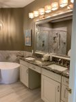 Master bath with Dual Vanities and Soaking Tub