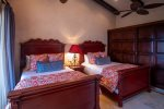 Jr. Master en suite bathroom with indoor & outdoor shower, bath amenities provided