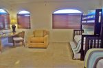 Kids Bedroom with bunk beds and couch