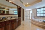 Master en suite bathroom, walk in closet, granite & marble through out