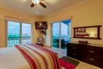 Master bedroom with terrace access and great views