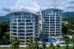 Luxury beachfront condominium community.