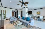 Spacious condo completely furnished.