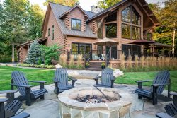 Custom Log Home across from all sport lake