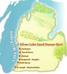 The Silver Lake area is about 70 miles north of Holland, Michigan
