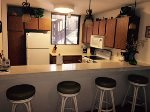 Kitchen island with barstool seating.