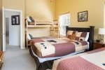 Guest Bedroom with 2 Queen Beds and a Twin Bunk Bed