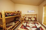 Guest Bedroom with Queen Bed and Twin Bunk Bed