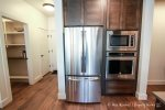Full size fridge and modern appliances
