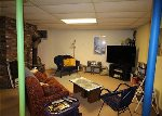 Basement level TV and game room