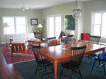 The dining area, conveniently located between the kitchen and sitting room.