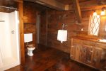 Basement level Man Cave bathroom - please note, only open to Winter seasonal renters.