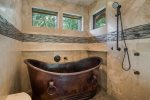 Main floor rustic bath tub