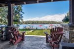 Spacious patio, great place to enjoy a drink after a great day on the lake
