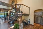 Stairs going upstairs, beautiful wood crafting