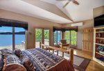 Upstairs master suite with King bed and these views.