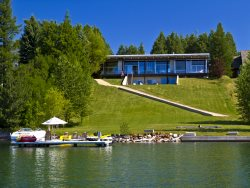 Casa Lago | Contemporary, Waterfront, Dock + Boat Lift