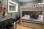 3rd bedroom with FULL sized bunkbeds.