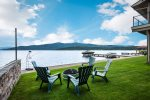 Gazebo provides waterfront shade, kayaks included for your use.