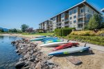 Seasons beach is the perfect place to launch paddle boards or kayaks
