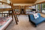 Upstairs this enormous `bunk room` with 3 custom `Full` sized bunk beds.  Ideal for grandkids, cousins, young adults.