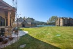 Gorgeous living area with tv and gas fireplace