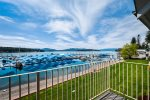 Gorgeous Hope waterfront condo views from the deck