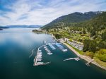 Aerial view of Holiday Shores & Marina looking towards Sandpoint.