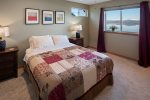 2nd bedroom with Queen bed, luxury linens and views