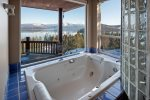 Large jacuzzi tub in main floor master bathroom.