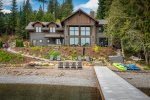 Magnificent custom built home, private dock, boat lift nestled in Oden Bay.