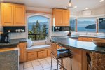 Large family size kitchen with spectacular views.