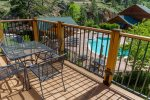 Poolside condo w/ mountain view. 5-minute walk to downtown shopping & dining!