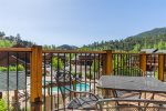 Poolside Resort Condo with Incredible Mountain Views! Steps from Riverwalk, 5 min Walk to Town.