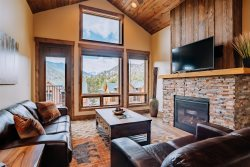 Conjoining luxury townhome with Rocky Mountain views.